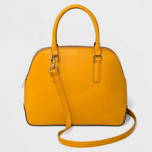 A New Day | Dome Satchel Mustard Crossbody Purse